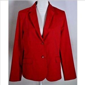 Talbots women's blazer 12 red jacket coat stretch